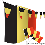 Belgium Bunting and Flags Bundle